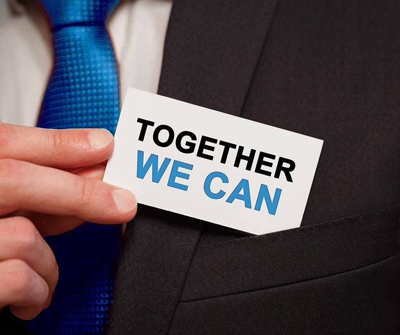 together we can business card